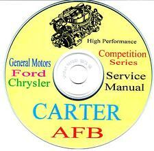 Carter Competition Series AFB 4bl HP Carburetor Service Manual