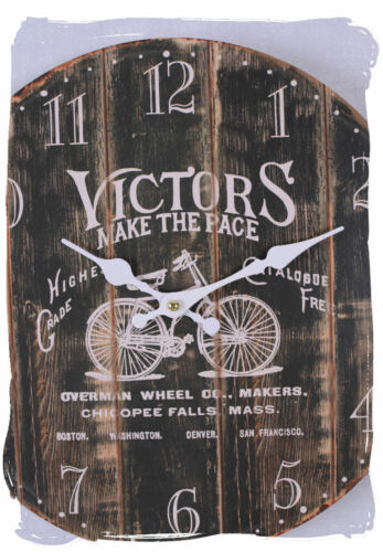 Shabby Chic Antique Clock Victors make the pace Wall clock kitchen clock