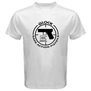 New-GLOCK-GUN-FIREARMS-LOGO-Men-039-s-White-Men-T-shirt-Size-S-M-L-XL-2XL