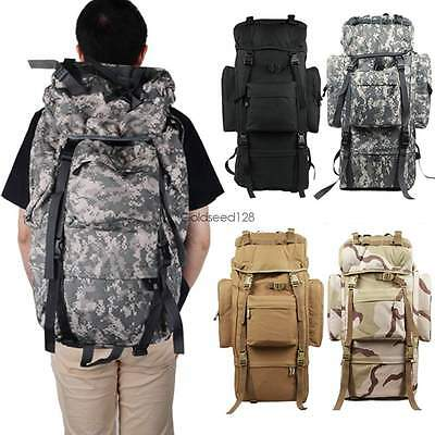 80L Military Tactical Camping Hiking Backpack Rucksack Trekking Bag Fashion US