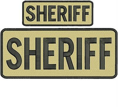 """""""sheriff """" embroidery patch  4x10 and 2x6 inches velcro"""