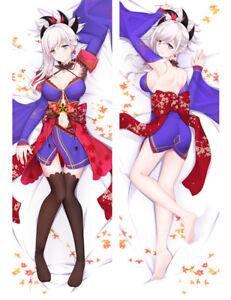 "59/"" Anime Fate FGO Cute Saber Dakimakura Japan Pillow Case Cover otaku Hug Body"