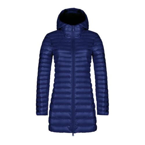 Womens Long Winter Warm Duck Down Puffer Jacket Coat Ultralight Outdoor 4XL-M