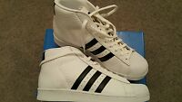 Mens Adidas Pro Model Animal Basketball Boots Trainers Bn Uk 10 White Superstar