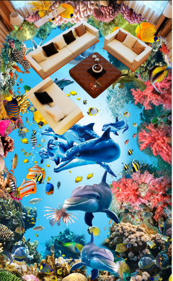 3D Cute Sea Creature 88 Floor WallPaper Murals Wall Print Decal AJ WALLPAPER US