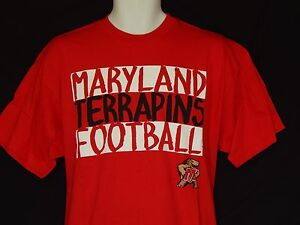 NEW-University-of-Maryland-Terrapins-Football-T-Shirt-Top-Mens-Size-M-XL-2XL