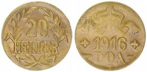 German-East-Africa-20-Heller-J-724b-Brass-Almost-Extremely-Fine-Small