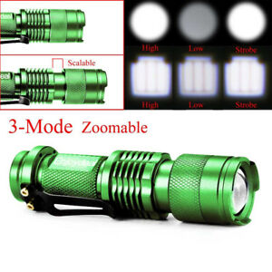 6000LM Q5 AA//14500 3 Modes ZOOMABLE LED Flashlight Torch Super Bright Lamp NEW