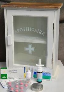 Apothekerschrank-Medizinschrank-Landhaus-Hausapotheke-Shabby-Vintage-Retro