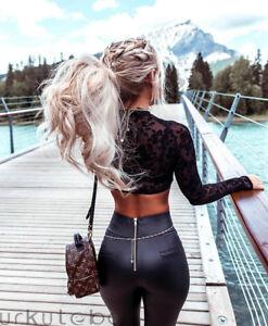 Women Skinny PU Leather Push Up Wet Look Clubwear Pencil Leggings Pants Trousers