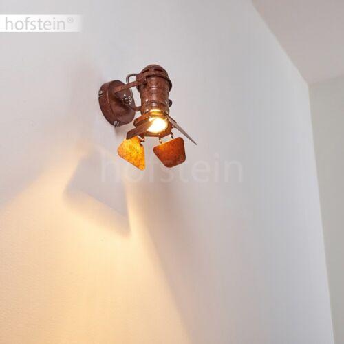 Retro Wohn Schlaf Zimmer Lampe verstellbar Flur Wand Leuchte rostfarben Schalter