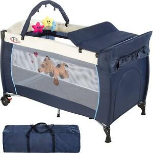 the best attitude d903e ba36f Details about 3-in-1 Portable Baby Travel Cot Bed Playpen Diaper Changer  Bassinet Mattress Bag