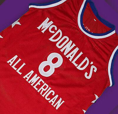 brand new 6f5c1 181f7 KOBE BRYANT #8 McDONALD'S ALL AMERICAN JERSEY McDONALD RED ...