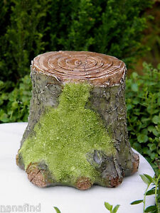 Details About Miniature Dollhouse FAIRY GARDEN ~ Decorative Resin Mossy  Tree Stump Display NEW