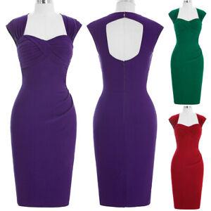 Bp-Stock-Sleeveless-Hollowed-Back-Nylon-cotton-Retro-Vintage-Open-Back-Dress