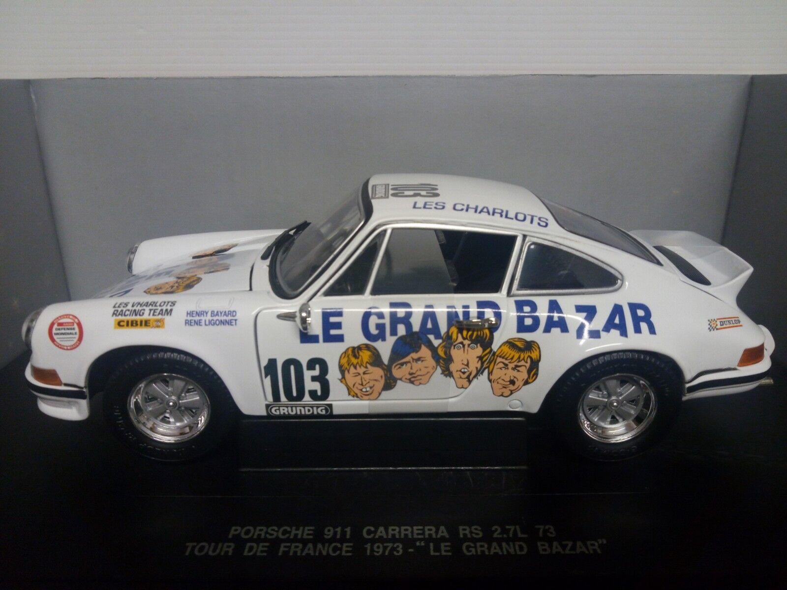 UNIVERSAL HOBBIES EAGLE'S 1 18  PORSCHE 911 CARRERA 2.7 RS  103 TOUR DE FRANCE