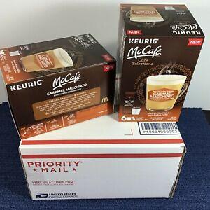 2-Six-Pk-Keurig-McCafe-Caramel-Macchiato-K-Cup-Pods-w-Milk-Frothers-Expires-2-21