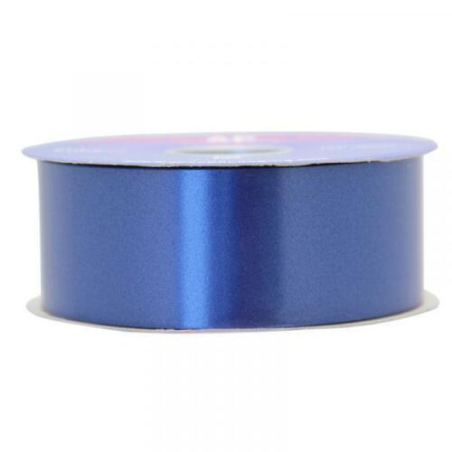 Navy Blue Poly Ribbon 2inch//48mm Craft Gift Wedding Car Venue 6m 90m APAC