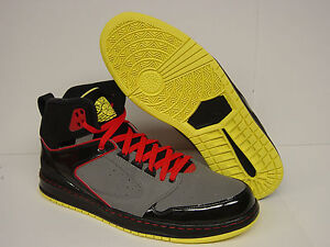NEW Mens NIKE Jordan Sixty Club 535790 016 Black Red Yellow Sneakers ... e33f9b53cf