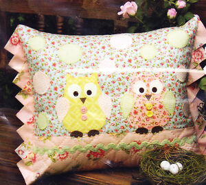 SALE-PATTERN-Two-Hoots-fun-and-easy-owl-applique-cushion-PATTERN