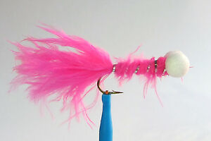 1 x streamer fly bobby rose h8//10//12 fly trout trout you mosca pink