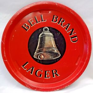 BELL-BRAND-LAGER-VINTAGE-ADVERTISING-TIN-TRAY-RED-COLOR-SERVING-COLLECTIBLES-4