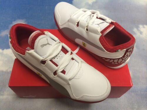 Euro 37 Puma Valorosso White Leather Ferrari Sneaker Youth Size 5 Women 6.5