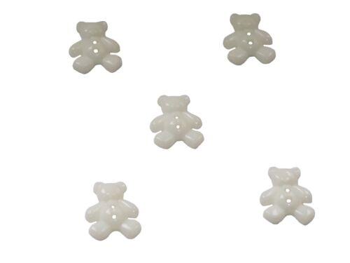 Kinderknöpfe Kunststoffknöpfe Knopf Knöpfe Bären Bär Dunkelblau 20 mm