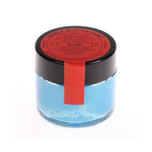 50 x Sugarflair 20g BLEU Peinture Comestible Glitter Couleur Gateau Decoration