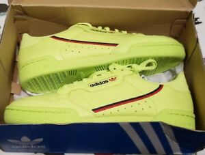5a9dae70444 ADIDAS CONTINENTAL 80 SEMI FROZEN YELLOW SCARLET NAVY B41675 Mens SZ ...