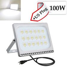 2X 100W LED Flood Light Outdoor Landscape Spot Lamp Cool White Fixtures US Plug