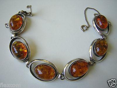 Fine Bracelets Nice Antikes Fischland Bernstein Armband Armkette 835 Silber Pressbernstein 33,9 G