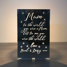 Personalised Mother's Day Mum Mam Nan Granny Tea Light Holder Stand Candle Gift