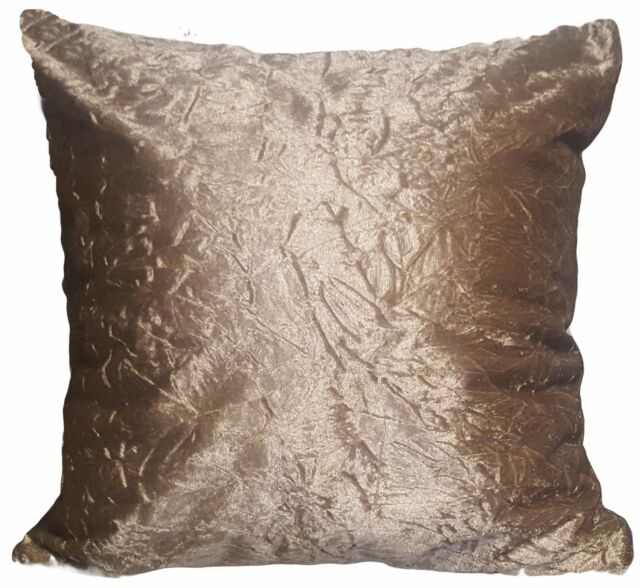 "Large Crush Velvet Diamante Two Tone Cushions Covers 17X17/""or21/""X21/"" 7 Colors"