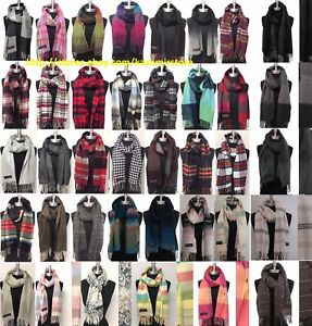 05ccc0d638ed5 NEW Fashion 100% CASHMERE SCARF MADE IN SCOTLAND PLAID DESIGN SUPER ...