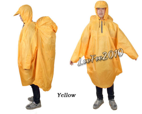 Outdoor Travel Camping Rain Cover Backpack Tarp One-Piece Raincoat Poncho Cape