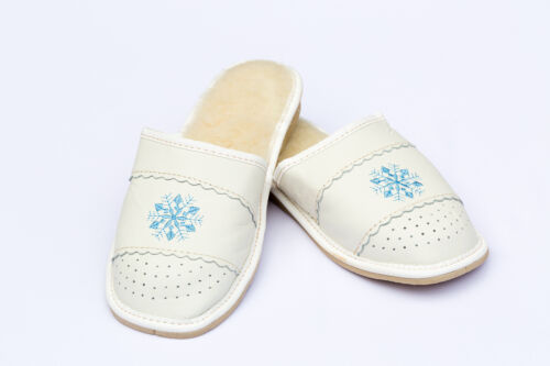 Womens Ladies Slippers Natural Leather Winter Warm Cozy Kapcie CLEARANCE SALE!