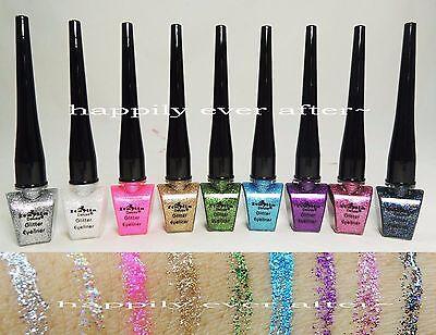 Italia Deluxe Glitter Eyeliner - Full Set of 9 Colors *Glitter Liquid Eyeliners*