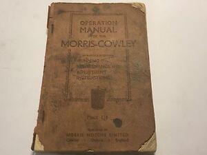 Array - details about original 1933 morris cowley car service operation repair overhaul  u0026 parts manual  rh   ebay co uk