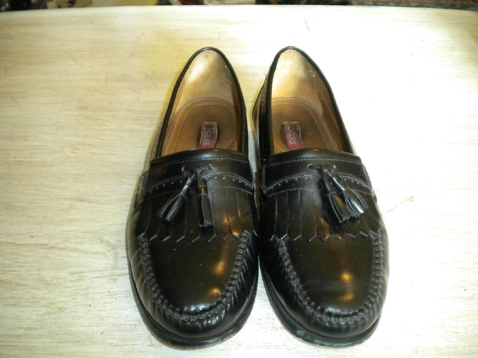 Mens Loafers Bass Black Kiltie Tassel Loafers Mens 12 D 4ed047