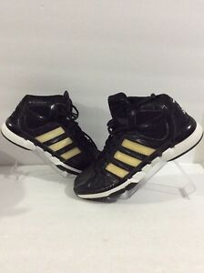 ADIDAS-Pro-Model-0-Black-Gold-White-Basketball-Sneakers-Sz-9-5-A53