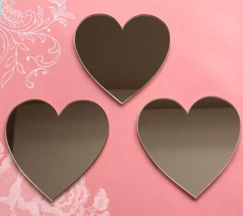 En forme de Coeur Acrylique Miroirs 8 CM X 3