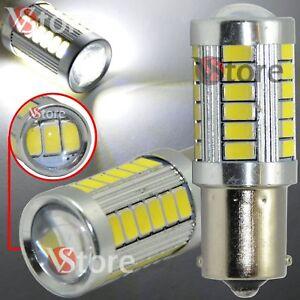 2-LAMPADA-RETROMARCIA-LED-BIANCO-BA15S-S25-33SMD-P21-5W-CANBUS-NO-ERRORE-12V-24V