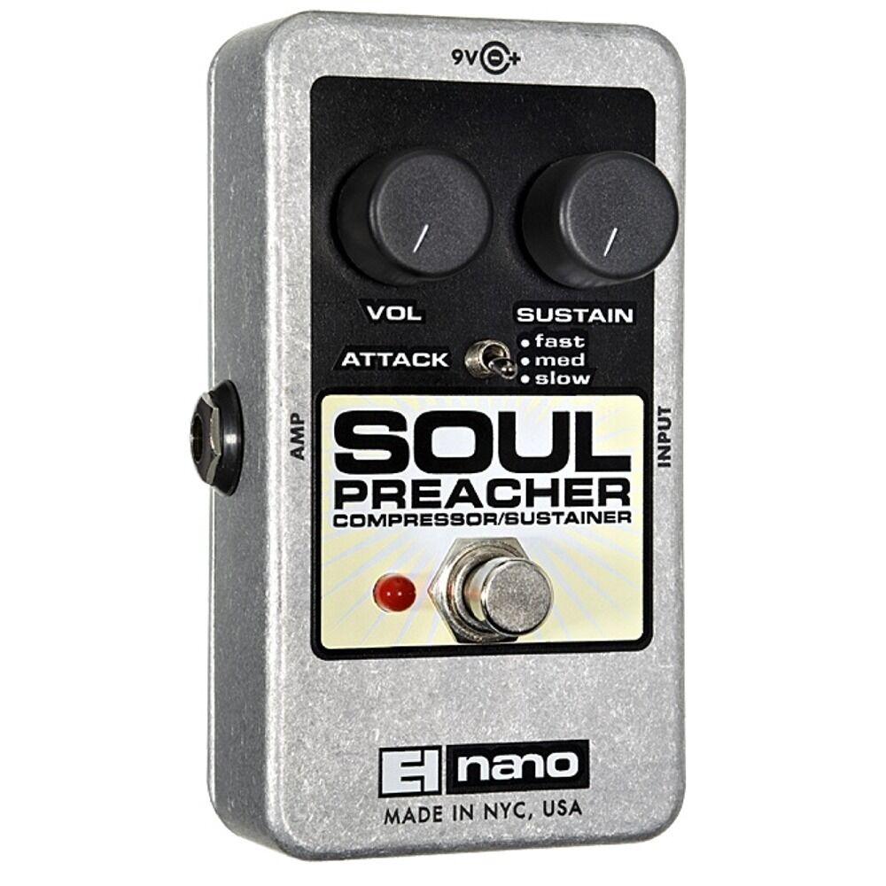 Electro-Harmonix Soul Preacher Compressor Sustainer Guitar Effects Pedal