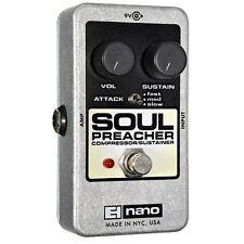 Electro-Harmonix Soul Preacher Compressor Sustainer True Bypass Guitar FX Pedal