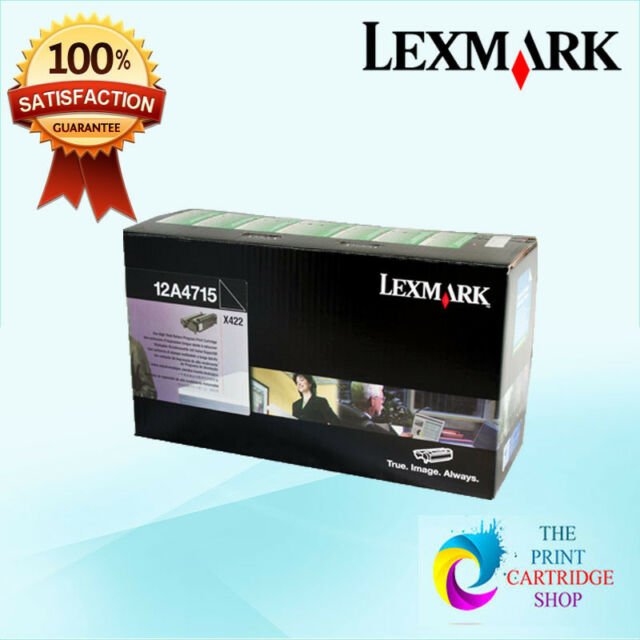 New & Genuine Lexmark 12A4715 High Yield Black Toner Cartridge X422MFP 12K Pages