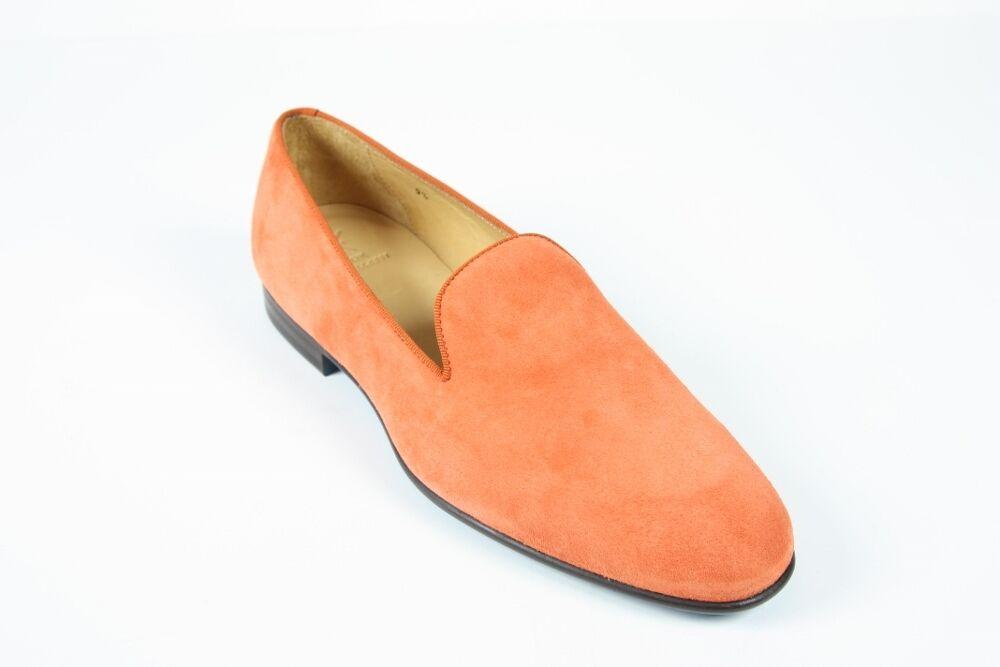 Sutor Mantellassi Shoes: 11 UK / 12   Soft orange suede slip-on loafers