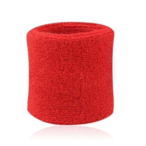 2x Sport Sweatbands Wristband Tennis Squash Badminton Gym Football Wrist Bands *
