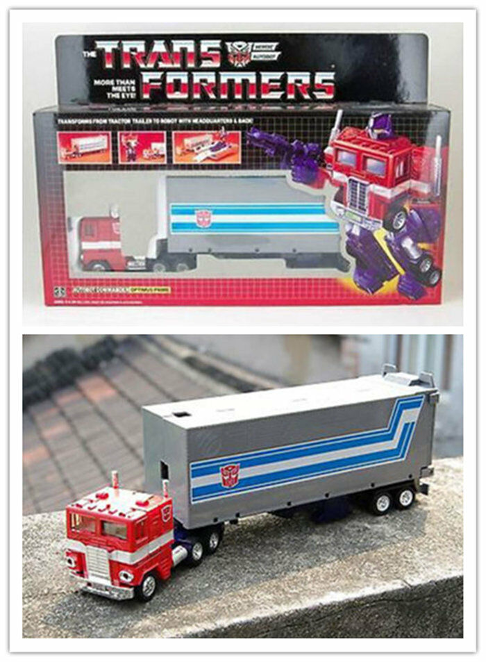 TRANSFORMERS G1 AUTOBOT Optimus Prime Tractor to Robot Reissue Gift Toy Hot New