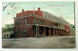 Image Is Loading 1907 Postcard The St Elmo Hotel Goshen New